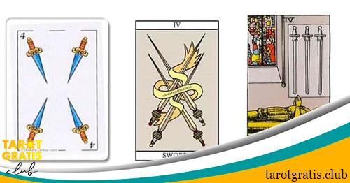 cuatro de espadas - tarot gratis club