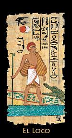 el loco en el Tarot Egipcio