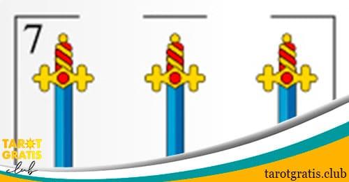 siete de espadas - tarot gratis club