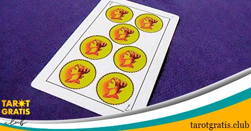 siete de oros - tarot gratis club