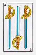 Tres de espadas