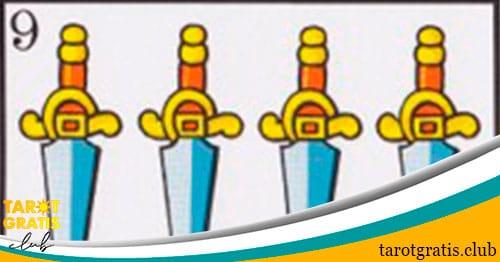 9 de espadas - tarot gratis club