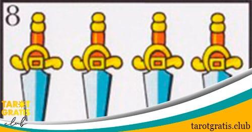 ocho de espadas - tarot gratis club